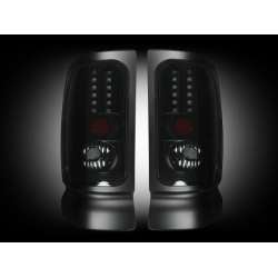 1994-2002 Dodge Ram 2500/3500 Recon Smoked LED Tail Lights