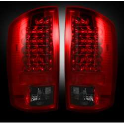 2003-2006 Dodge Ram 2500/3500 Recon Smoked Red LED Tail Lights