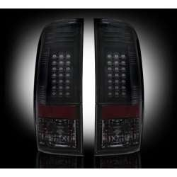 1999-2007 Ford Superduty Recon Smoked LED Tail Lights
