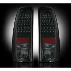 1999-2007 Chevy Silverado & GMC Sierra 2500/3500 Recon Smoked LED Tail Lights