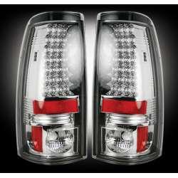 1999-2007 Chevy Silverado & GMC Sierra 2500/3500 Recon Clear LED Tail Lights