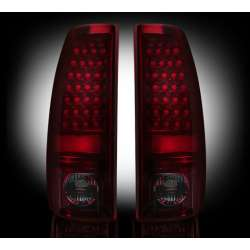 1999-2007 Chevy Silverado & GMC Sierra 2500/3500 Recon Smoked Red LED Tail Lights