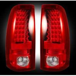 1999-2007 Chevy Silverado & GMC Sierra 2500/3500 Recon Red LED Tail Lights