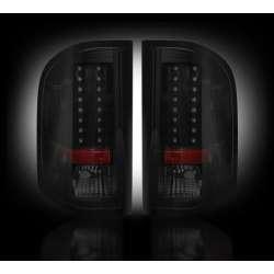 2007-2012 Chevy Silverado 2500/3500 Recon Smoked LED Tail Lights
