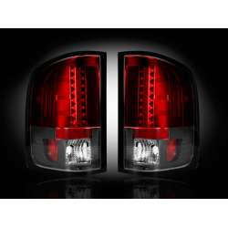2007-2012 Chevy Silverado 2500/3500 Recon Red LED Tail Lights