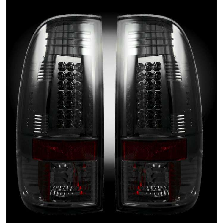 2008-2016 Ford Superduty Recon Smoked LED Tail Lights