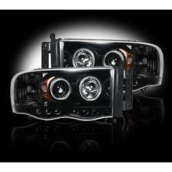 2003-2005 Dodge Ram 2500/3500 Recon Smoked Projector Headlights