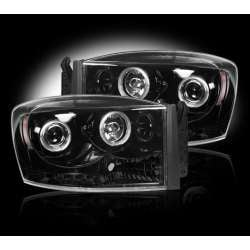 2006-2009 Dodge Ram 2500/3500 Recon Smoked Projector Headlights