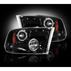 2010-2012 Dodge Ram 2500/3500 Recon Smoked Projector Headlights