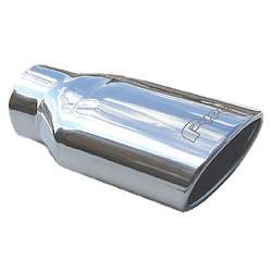 Pypes 4 In Inlet 7 In Outlet 18 In Long Rolled Edge Stainless Exhaust Tip