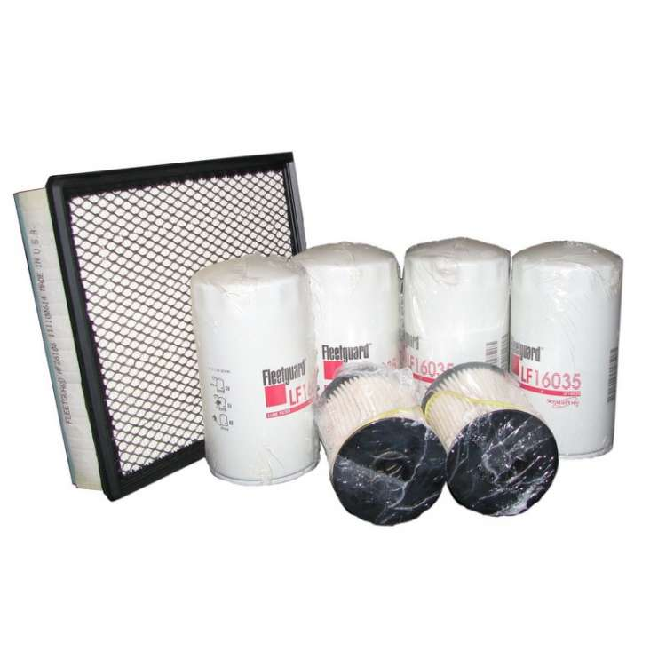 03-07 Dodge 5.9L Cummins 2-Fuel Filter, 4-Oil Filter & 1-Air Filter Maintenance Kit