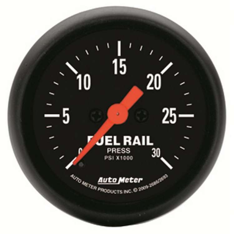 Z Series Fuel Rail Pressure Gauge 0-30000 PSI 2686, 03-07.5 Cummins, LB7/LLY Dmax