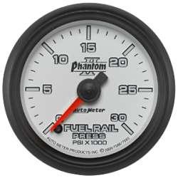 Phantom II Rail Pressure Gauge 0-30K PSI 7593 07.5+ Cummins, LBZ/LMM Dmax