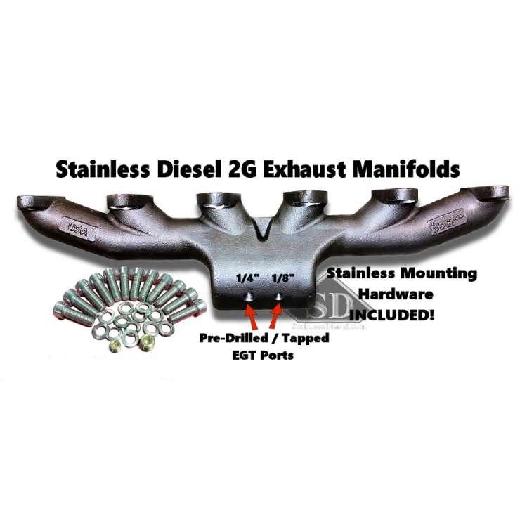 89-98 Dodge 5.9L 12V Cummins Stainless Diesel T-3 Exhaust Manifold