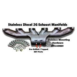 89-98 Dodge 5.9L 12V Cummins Stainless Diesel T-6 Exhaust Manifold