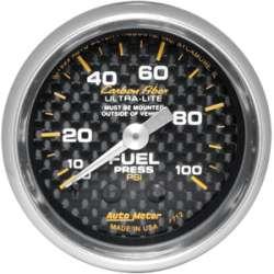 Carbon Fiber Fuel Pressure 0-100PSI 4712