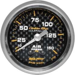 Carbon Fiber 0-150PSI Air Pressure Gauge 4720