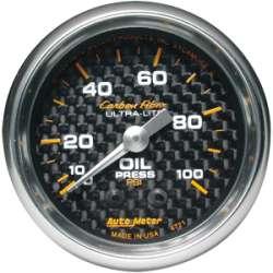 Carbon Fiber 0-100PSI Oil Pressure Gauge 4721