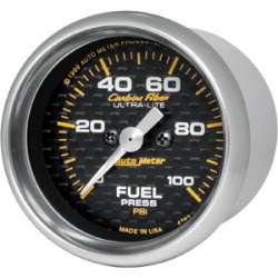 Carbon Fiber Fuel Pressure 0-100PSI 4763