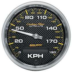 Carbon Fiber Electric Programmable Metric Speedometer 4787-M