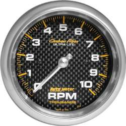 Carbon Fiber 0-10,000RPM Tachometer 4798