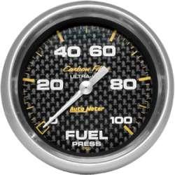 Carbon Fiber Full Sweep Fuel Pressure 0-100PSI 4863