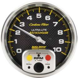 Carbon Fiber 5 In Tachometer w/Memory 4894