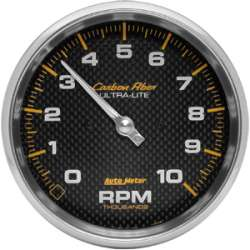 Carbon Fiber 5 In 0-10,000RPM Tachometer 4898