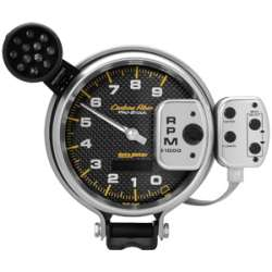Carbon Fiber 5 In Pro-Stock 0-9000RPM Tachometer w/ Memory 6834