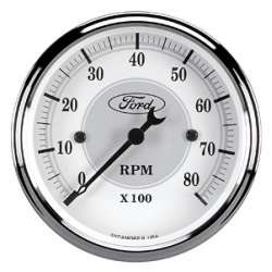 Ford Racing 0-8000RPM Flood Lit Tachometer 880088
