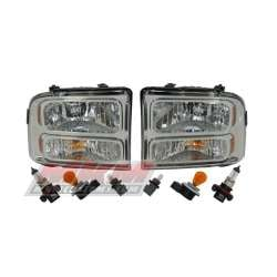 99-07 Ford Super Duty/Excursion OEM Style Chrome Headlights
