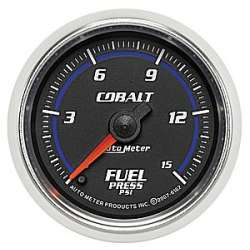Cobalt 0-15PSI Electric Fuel Pressure Gauge Stepper Motor 6162