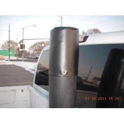 Black Vinyl Exhaust Stack Cover 4 In, 5 In, 6 In, Or 7 In