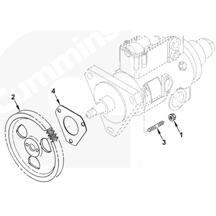 89-93 Dodge 5.9L Cummins Diesel Injection Pump to Gear Housing Gasket