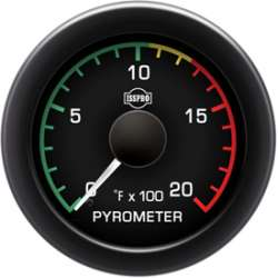 EV² R11000 Series 0-2000 Pyrometer w/Color Band R11031