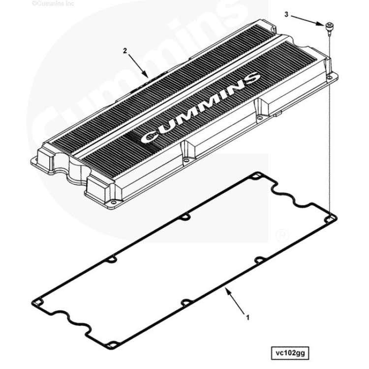 Cummins ISX Valve Cover Gasket 4026507