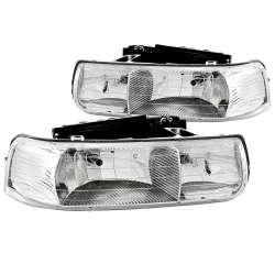 99-02 Chevy Silverado ANZO Crystal Chrome Headlights