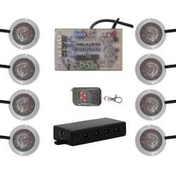 Vision X Super White LED Strobe And Rock Universal Billet Light Pods Kit