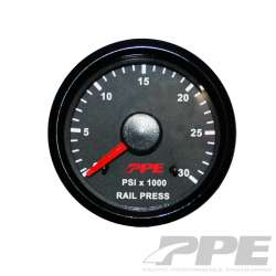 PPE 0-30K PSI Fuel Rail Pressure Gauge