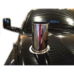 7 In Straight Cut Chrome 20 In Length Hood Stack