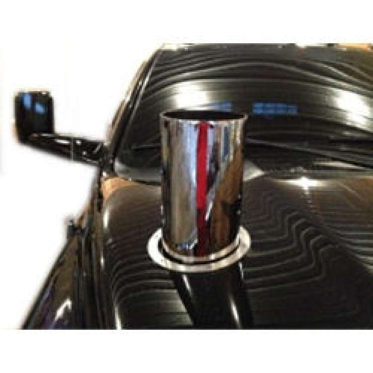 6 In Straight Cut Chrome 20 In Length Hood Stack