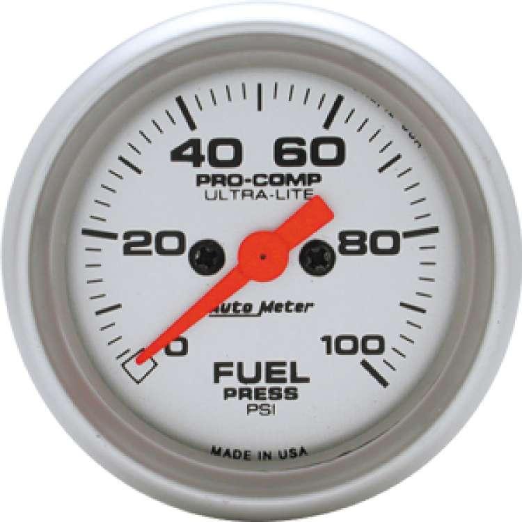 Ultra Lite Electric Fuel Pressure Gauge 0-100 PSI 4371