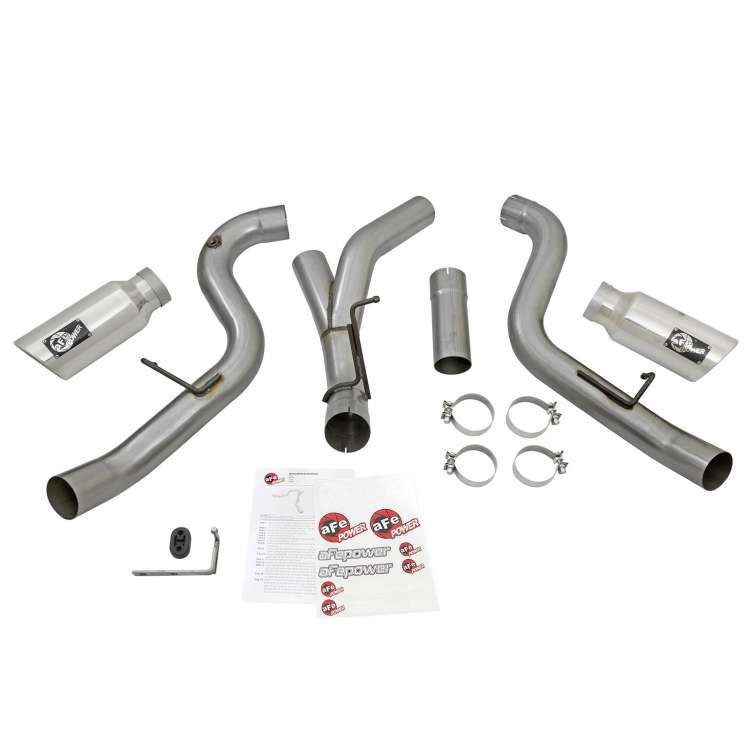 2016 LML 6.6L Duramax AFE Stainless 4 In Dual Large Bore-HD DPF Back Exhaust