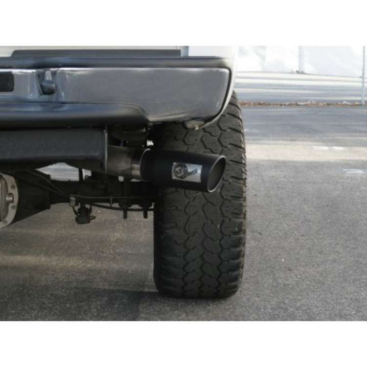 AFE 5 Inch Inlet, 6 Inch Outlet, 15 Inch Long Black Powdercoated Exhaust Tip