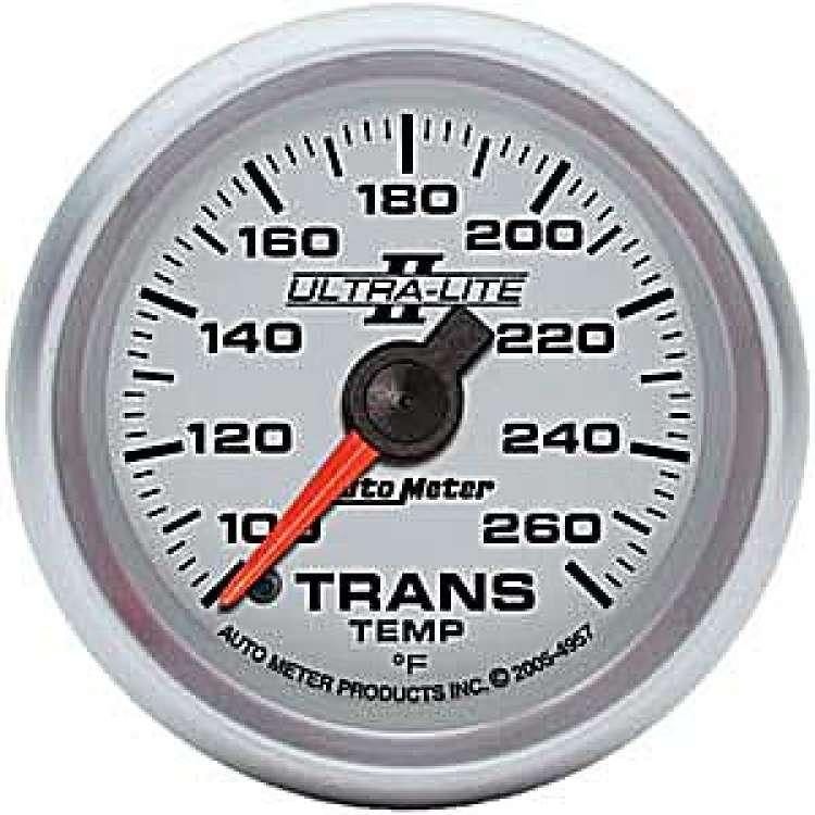 Ultra Lite II Transmission Temperature Gauge 100-260º 4957