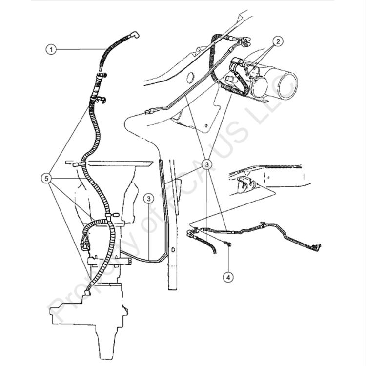 94-97 Dodge Ram 4x4 Transfer Case Vacuum Harness