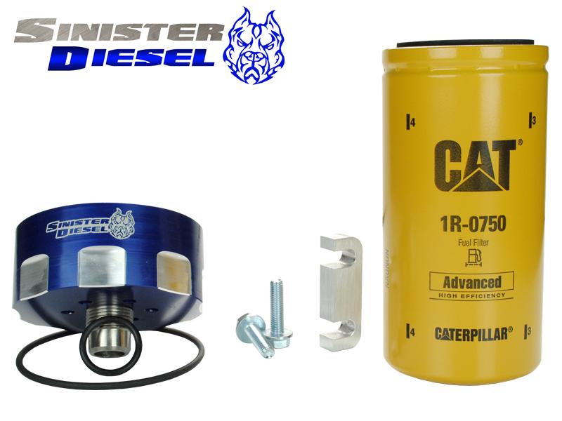 GM 6.6L Duramax CAT Fuel Filter Conversion Kit SMC-CATADAP-CHVY | Add On Kit For Duramax Fuel Filter |  | Pure Diesel Power