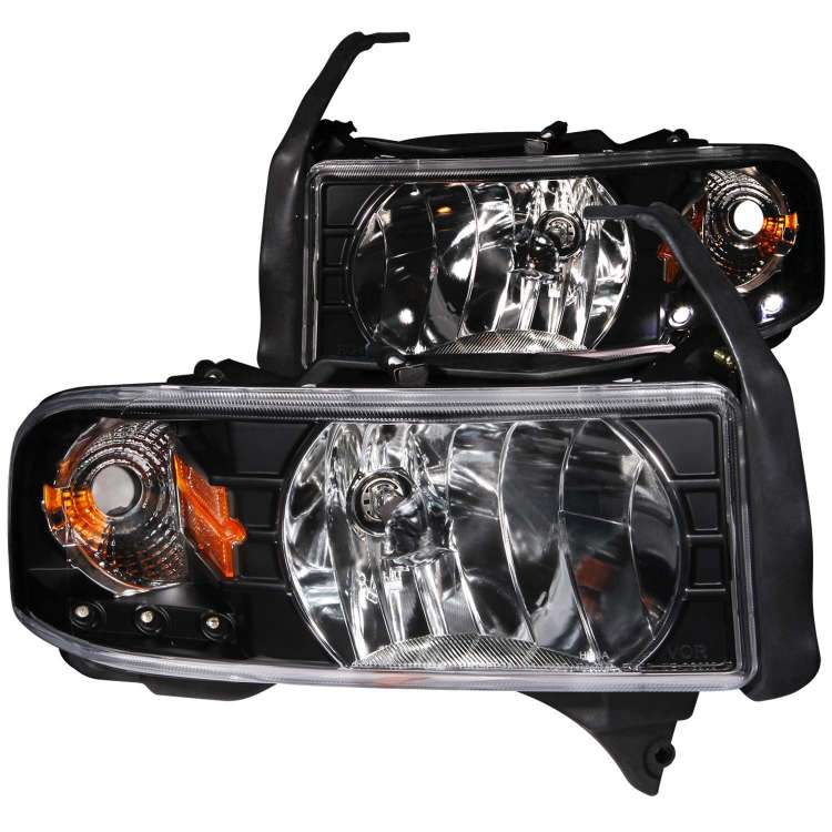 94-02 Dodge Ram 2500/3500 Anzo Crystal Headlights Black w/L.E.D