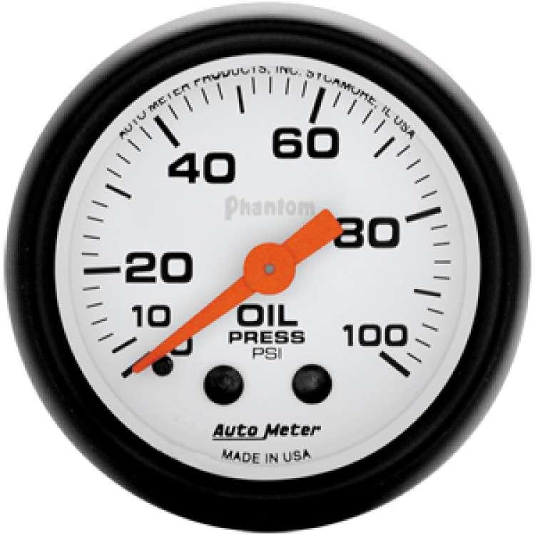 Phantom Mechanical Oil Pressure 0-100 PSI Gauge 5721