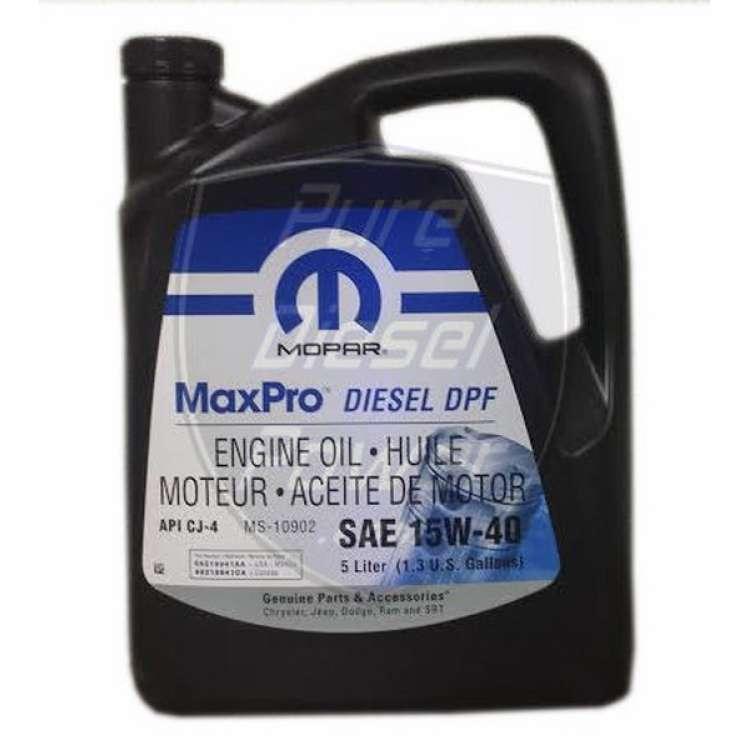 Mopar Diesel Motor Oil 15W40 - 5 Liter Jug